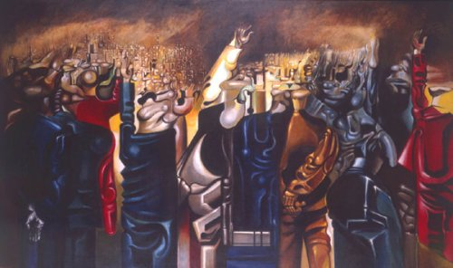 The Meeting by Merlyn Evans