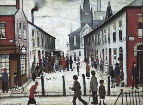 Lowry's 'The Fever Van.' For source of image see link.
