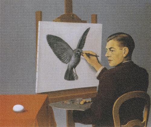 'Perspicacity' by René Magritte (adapted from 'Magritte' in the Taschen Edition