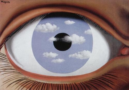 'The False Mirror' by René Magritte