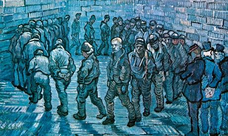 Van Gogh's Prisoners Exercising: nine out of 10 prisoners have mental health issues when they enter prison. Photograph: Alamy.