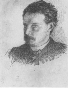 William James - portrait in pencil