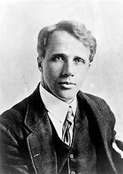 Robert Frost (circa 1910). For source of image see link.