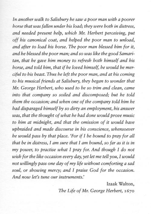 Izaak Walton quote on George Herbert