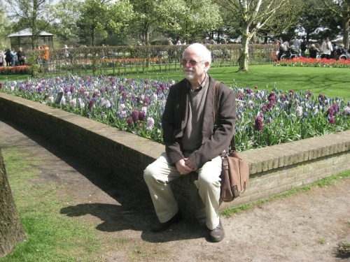 Me withb the tulips