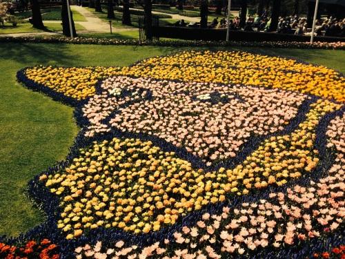 Van Gogh in Tulips at the Keukenhof Tulip Gardens