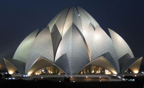 The Bahá'í House of Worship in Delhi, India