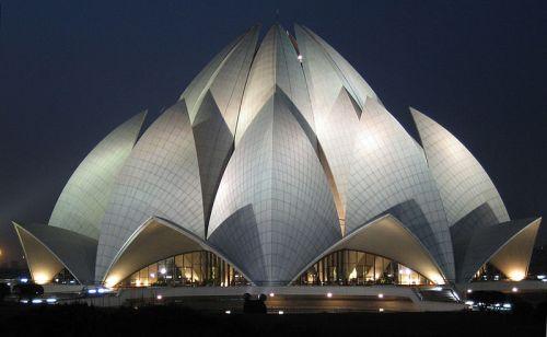 The Bahá'í House of Worship in Delhi, India