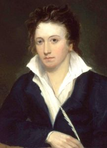 Portrait of Shelley by Alfred Clint (1819) - for source see link
