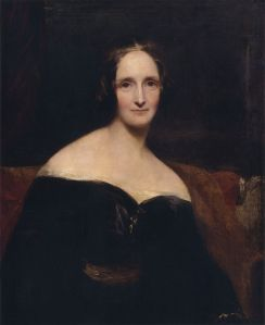 Mary Shelley's portrait by Richard Rothwell (for source of image see link)