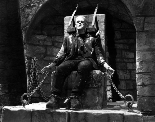 Boris Karloff as the Monster (For source of image see link)