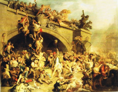 The Massacre at Paris 1792 Plundering the King´s Cellar at Paris (for source of image see link)