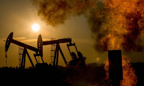 Fracking in North Dakota. 'You've got to stop fracking right away (in fact, that may be the greatest imperative of all, since methane gas does its climate damage so fast).' Photograph: Les Stone/Corbis