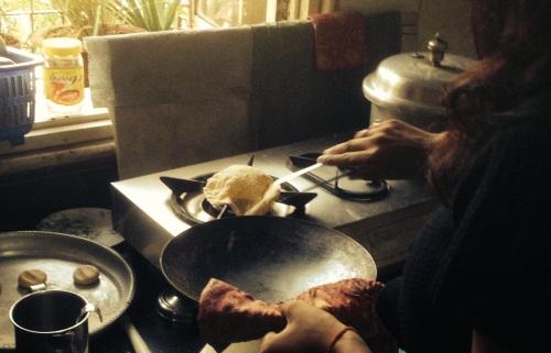 Reheating chapatis