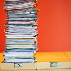 Stack of Folders on Inbox