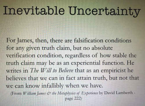 Inevitable Uncertainty